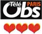 Logo nouvel obs + coeurs
